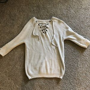 Miracle brand relaxed cream sweater - Ooh La Luxe